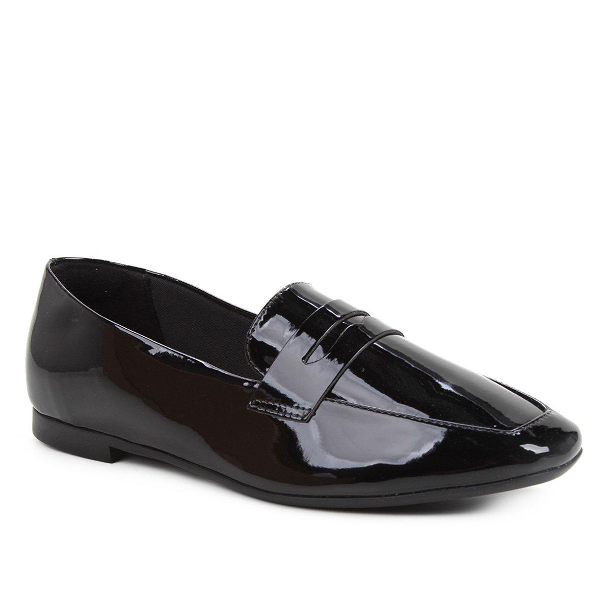Mocassim Shoestock Loafer Verniz Feminino