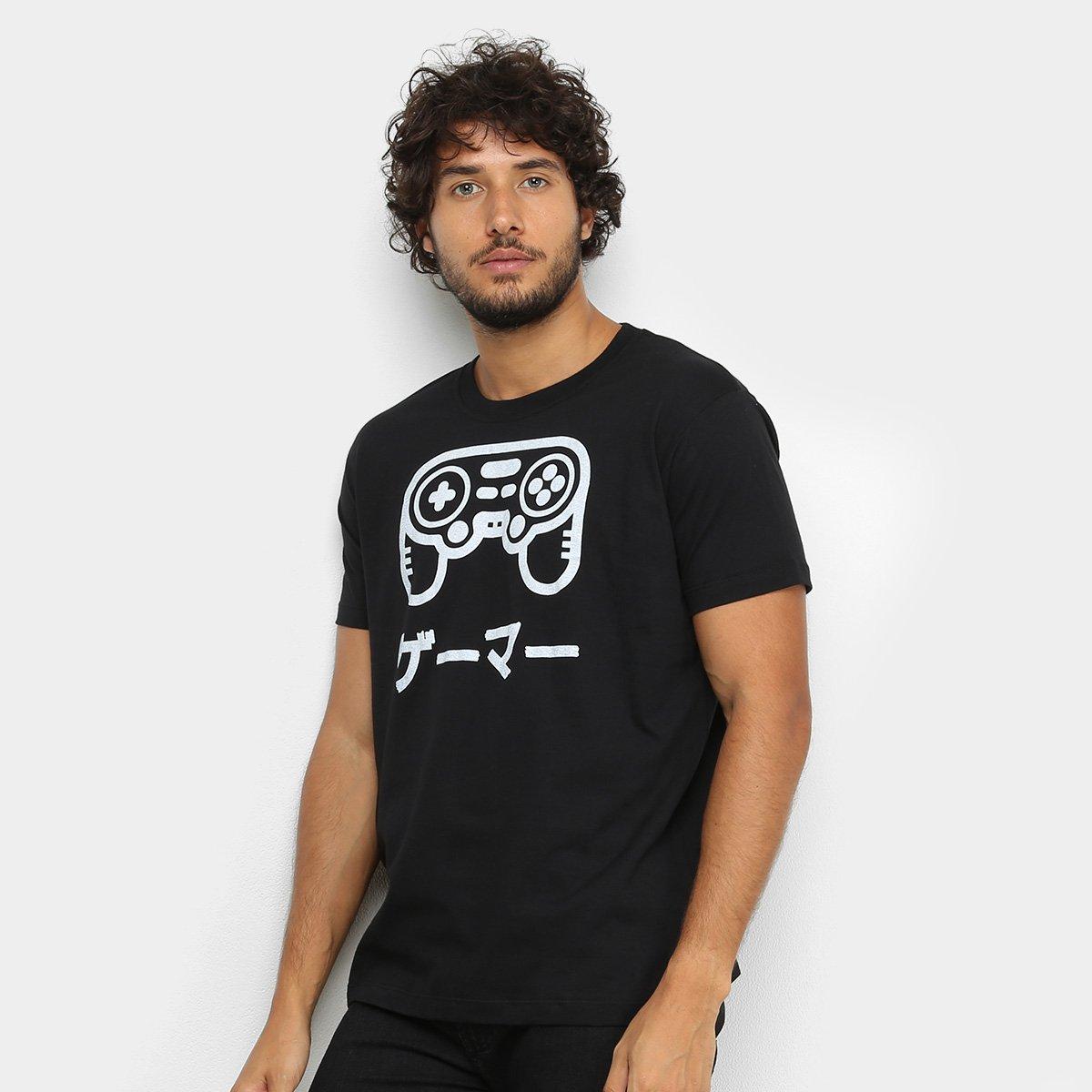 Camiseta BRKsEdu Controle Gamer Masculina