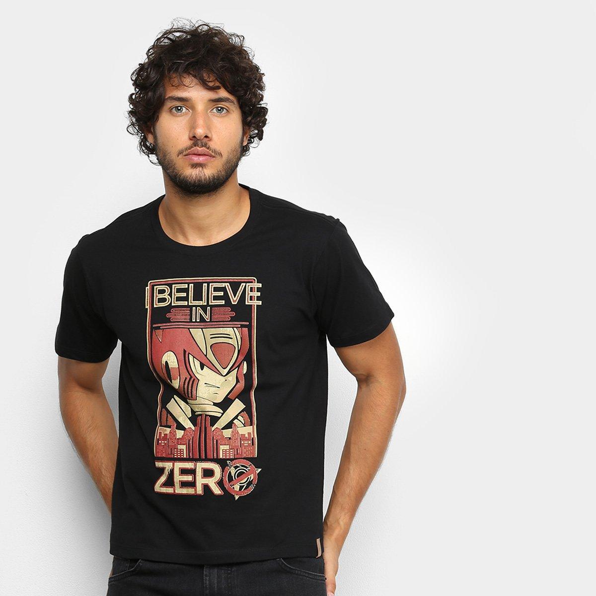 Camiseta Mega Man Zero City Masculina