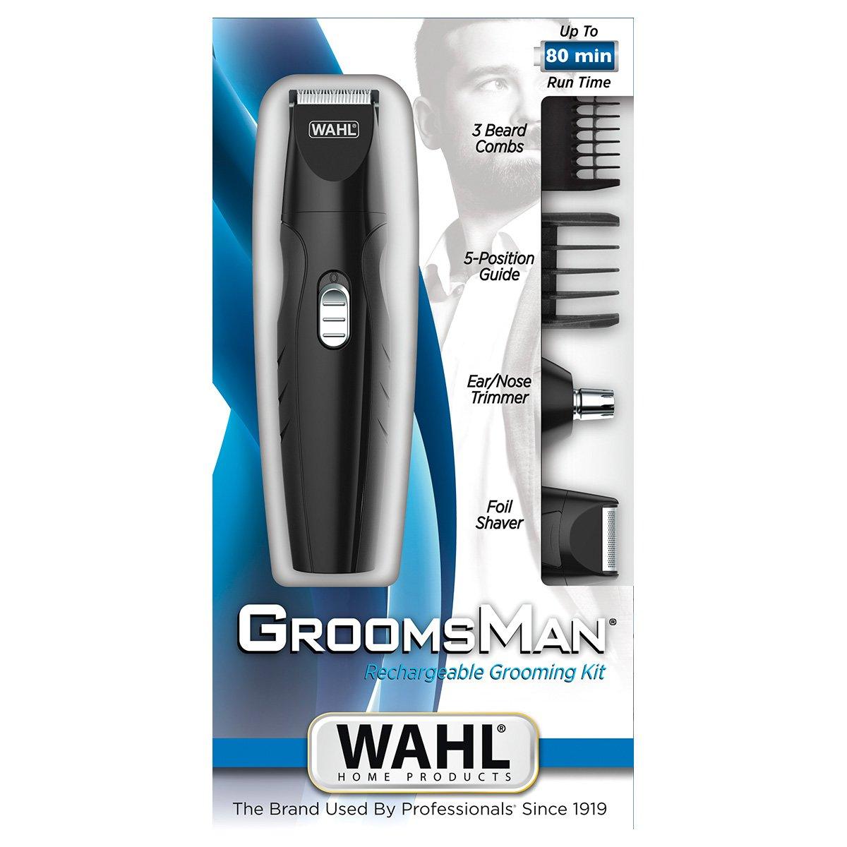 Kit Aparador de Pelos Wahl Rechargeable GroomsMan - 1