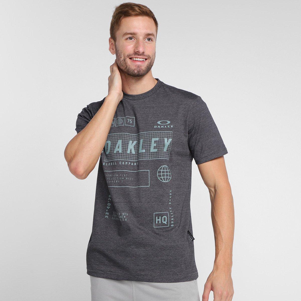 Camiseta Oakley Mod Global Tag Heather Masculina