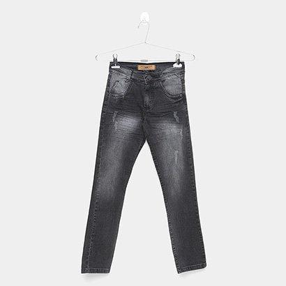 Calça Jeans Infantil Mox Estonada Masculina