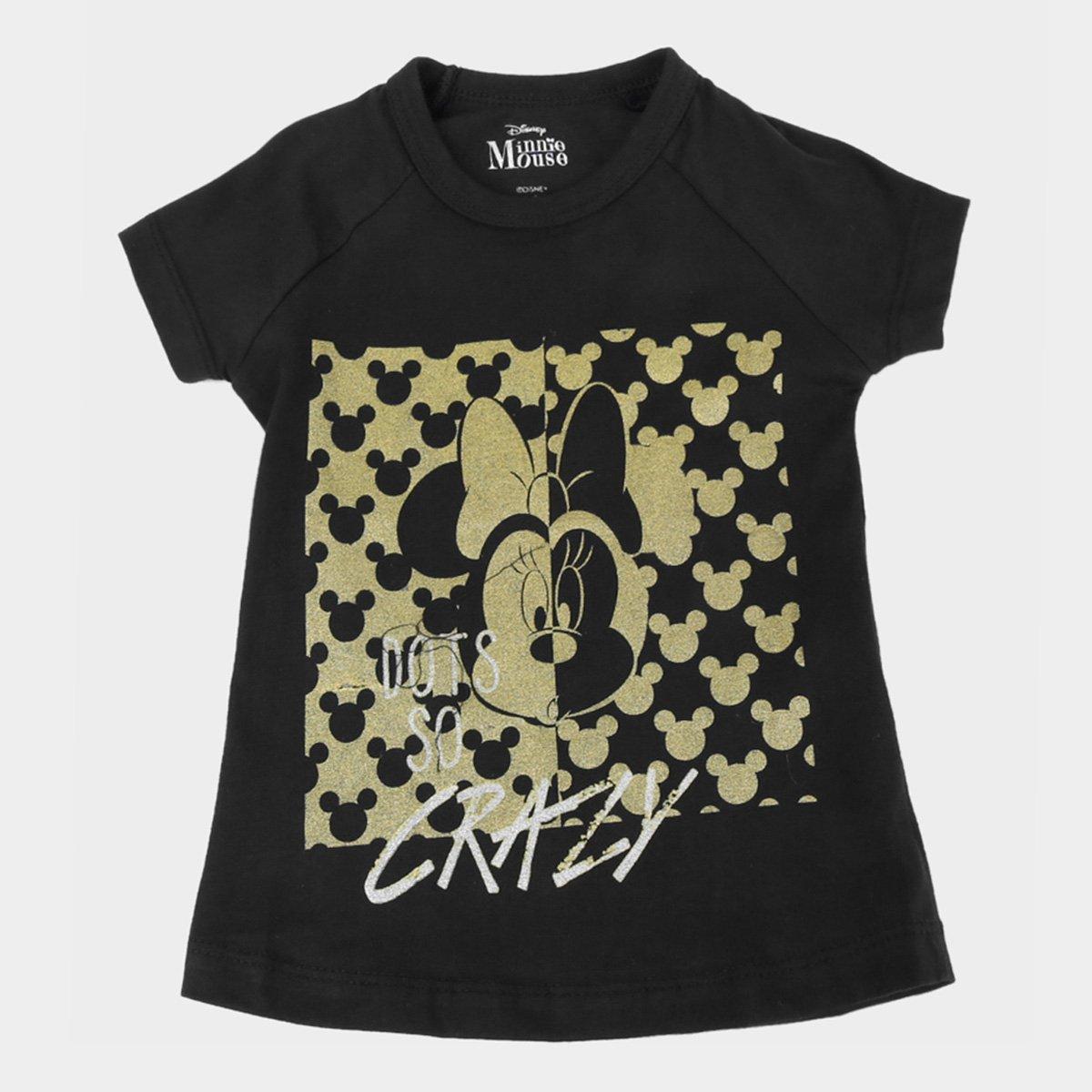 Blusa Infantil Disney Crazy Minnie Feminina