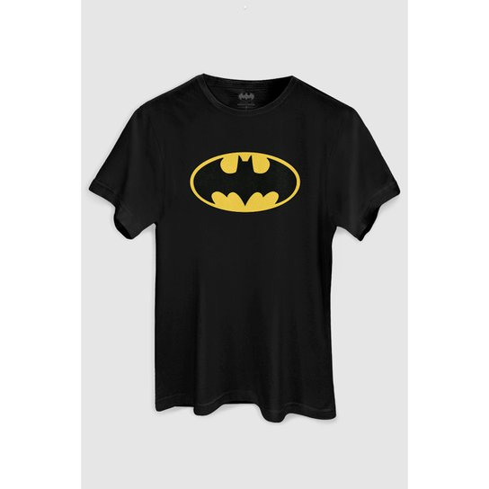a5c6bdc7b3 Camiseta DC Comics Batman Clássico bandUP! - Preto   Netshoes