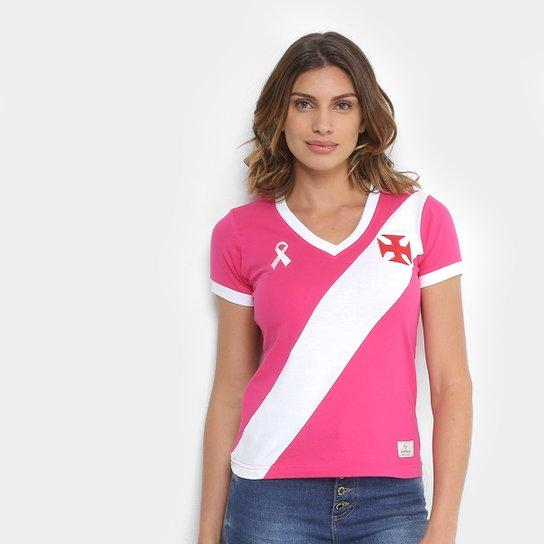 cca9d827cb Camiseta Vasco da Gama Outubro Rosa Feminina - Rosa+Branco