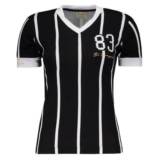 601b0e73af Camisa Corinthians Retrô 1983 Feminina - Preto - Compre Agora