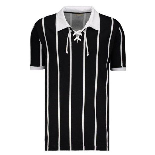 Camisa Retrô Alvinegro SP 1929 - Preto - Compre Agora  4ee1e69b61fb1