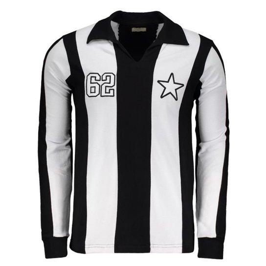 e3267ba8ac Camisa Botafogo Retrô 1962 Manga Longa Masculina - Preto - Compre ...