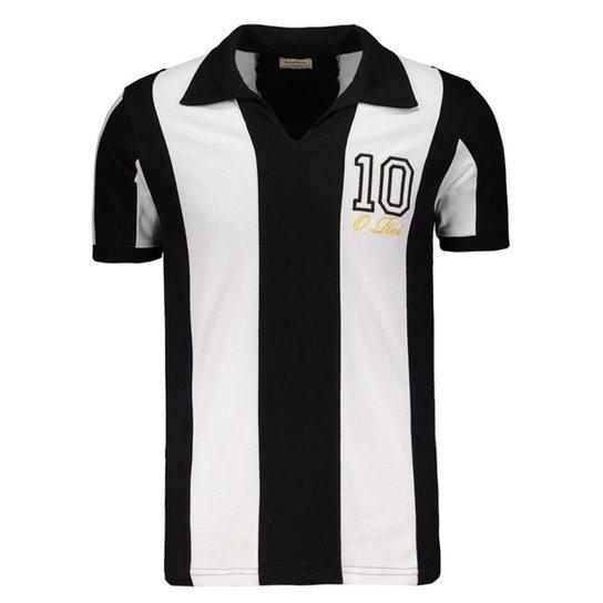 2274b6e540eb7 Camisa Santos Retrô O Rei Masculina - Preto - Compre Agora