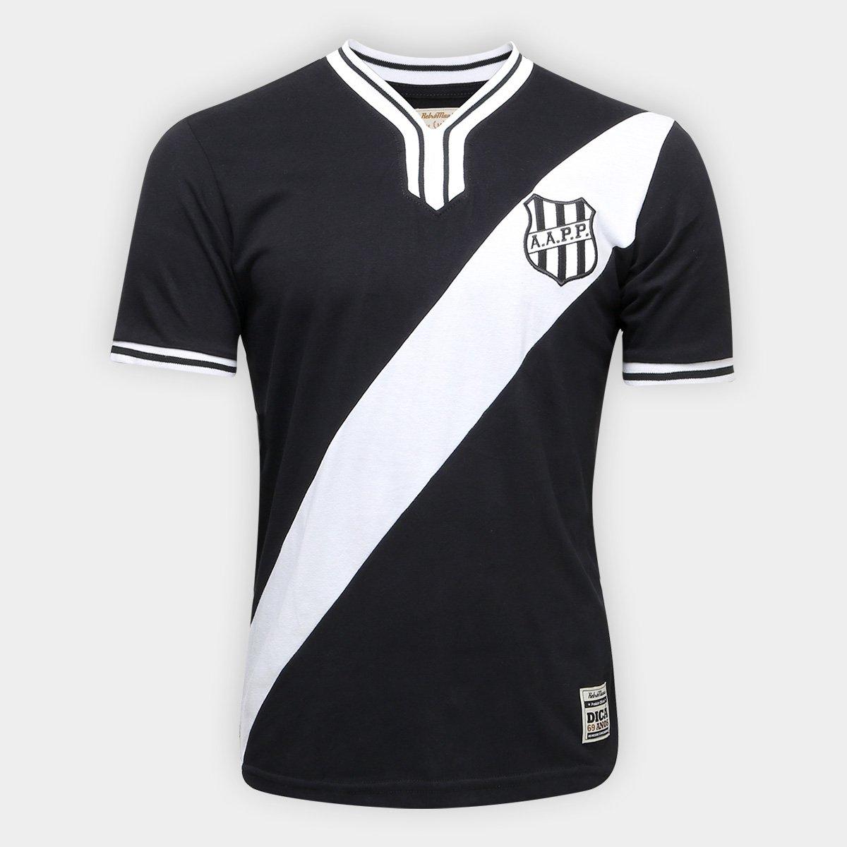 Camiseta Ponte Preta Retrô nº 10 1977 Masculina