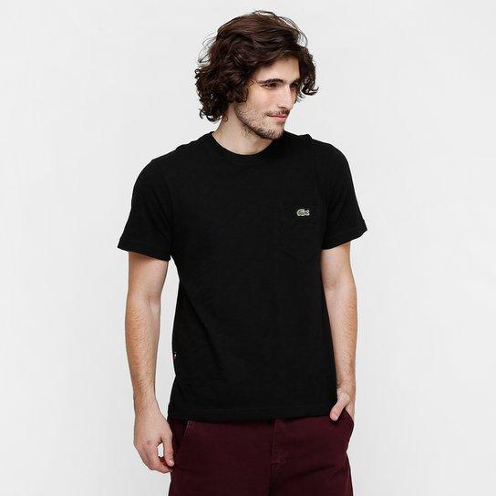 13567c7a4d7d1 Camiseta Lacoste Live Básica Bolso - Compre Agora   Netshoes