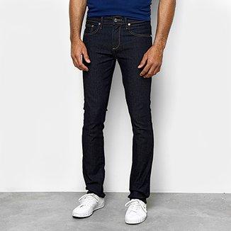 1fba2e92ed58a Calça Jeans Slim Lacoste Lavagem Escura Masculina