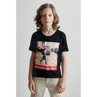 Camiseta Masculina Infantil Mini Sm Nascido E Criado Reserva Mini 943c2f1765b59