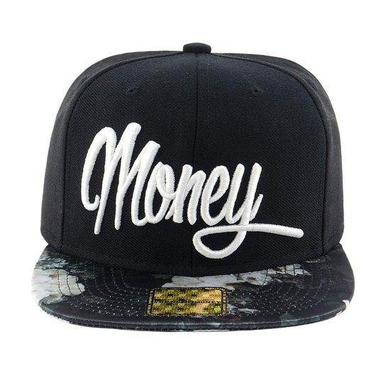 dedeb354882bd Boné Aba Reta Young Money Snapback Money Floral - Preto - Compre ...