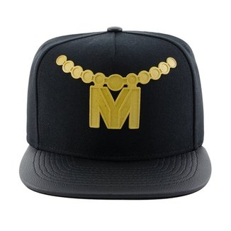 Boné Aba Reta Young Money Snapback Rubber Gold 3D 765d2af6923