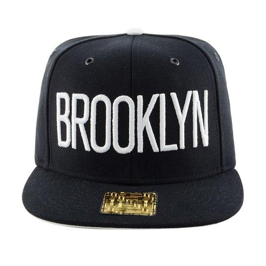 1dab4257d9 Boné Aba Reta Young Money Snapback Brooklyn 3D - Preto | Netshoes