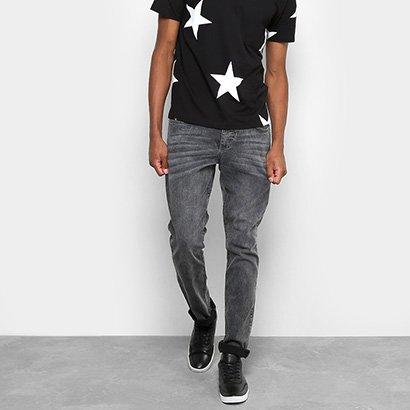 Calça Jeans Skinny Drezzup Marmorizada Masculina