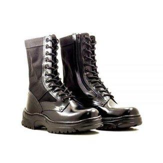 cf657565b Coturno Couro Kallucci Militar CCL Ziper Especial