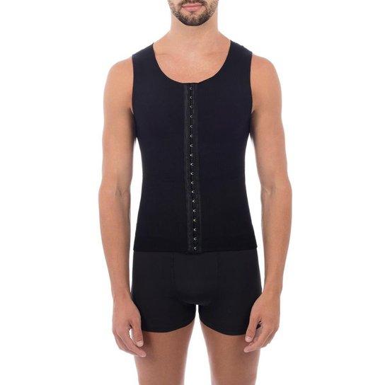Cinta modeladora masculina slim compressão melhora postura colete Pliè -  Preto 6850f61cc50