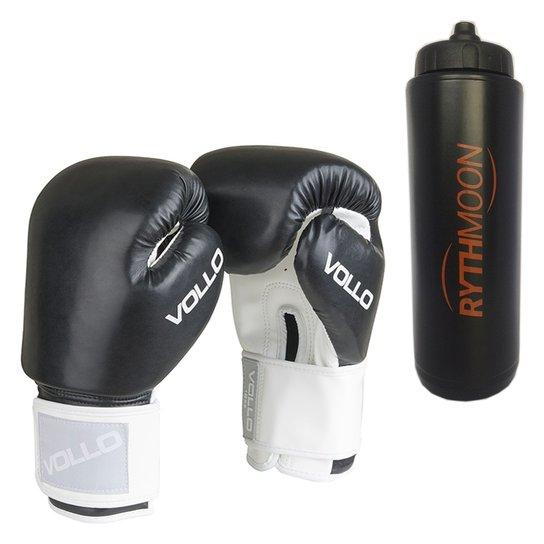 852b0adb1 Kit Luva De Boxe Muay Thai Combat Vollo Preta 14Oz - Compre Agora ...