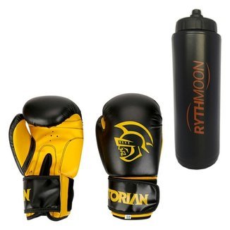 57fd7e3ace Kit Luva De Boxe Pretorian First 12 Oz Preto + Squ