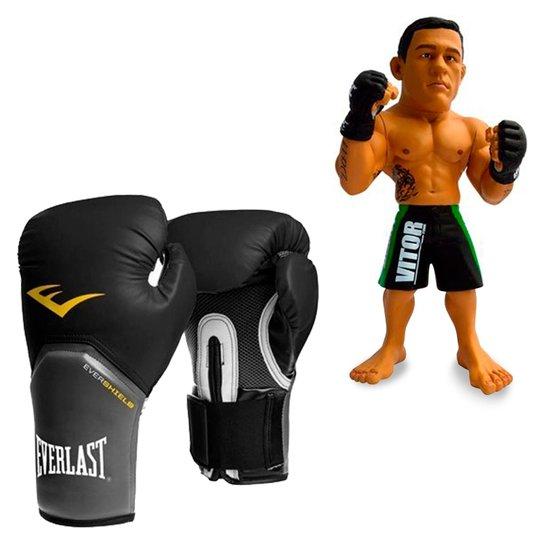 Kit Luva Boxe Elite Pro Style Everlast Preta 16Oz - Compre Agora ... 608ff8799cb10