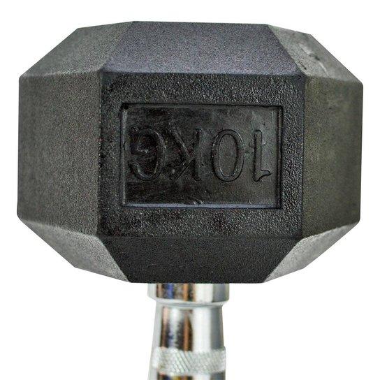 8ae60b357 Halteres Sextavado Ahead Sports AS2102J 10kg - Preto