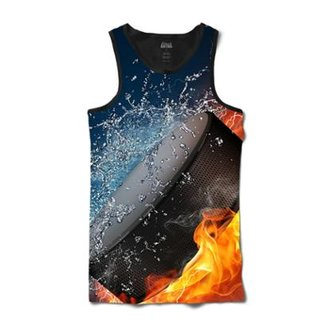 Camiseta Attack Life Regata Disco Hockey Sublimada Masculina