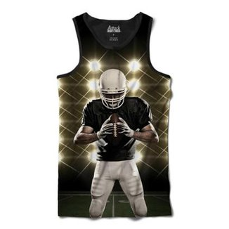 Camiseta Attack Life Regata Futebol Americano Defensor Sublimada Masculina
