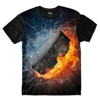 Camiseta Attack Life Disco Hockey Sublimada Masculina