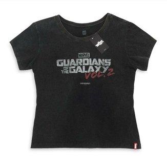 904f55bf9 Camiseta Feminina Marvel Logo Guardiões da Galáxia Volume 2