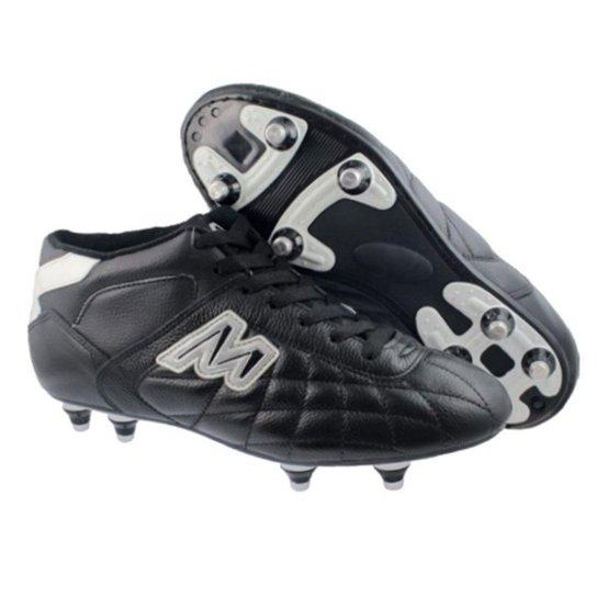 Chuteira Futebol Americano Mathaus Couro Trava Re - Preto - Compre ... c36f7dc4471ae