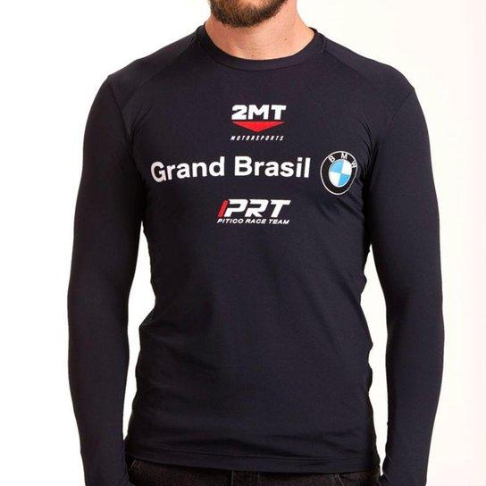 Camiseta Segunda Pele 2mt - Oficial da Equipe BMW - Preto - Compre ... db1e6509abf56
