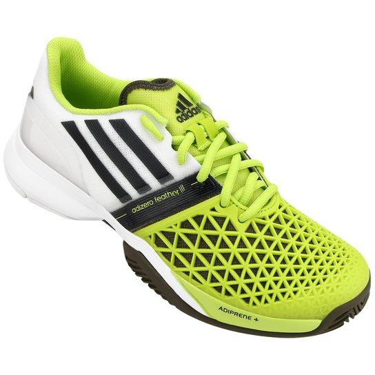 Tênis Adidas CC Adizero Feather 3 - Branco+Verde Limão 912735817dd5d