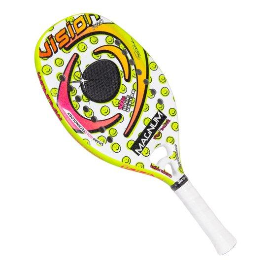 00d1c3b3c Raquete De Beach Tennis Vision Magnum - Branco+Verde Limão