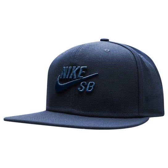 Boné Nike Aba Reta SB Icon - Azul Escuro - Compre Agora  ccf6e98a50b