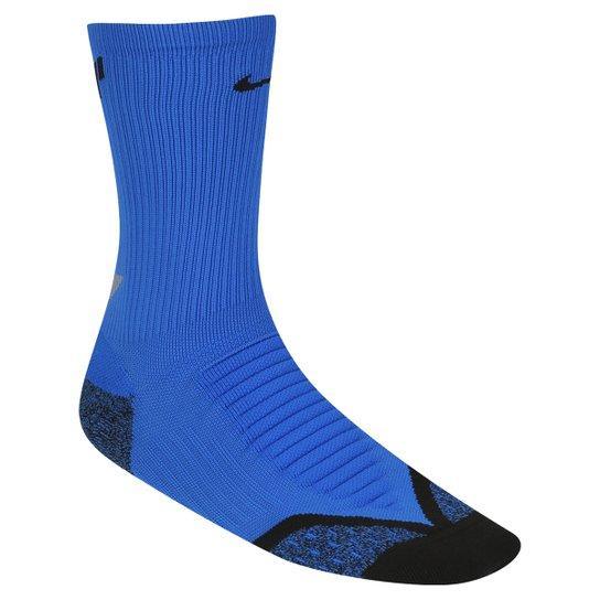 bdfe0d505 Meia Nike Dri-Fit Elite Running Cushion Cano Alto - Azul+Preto