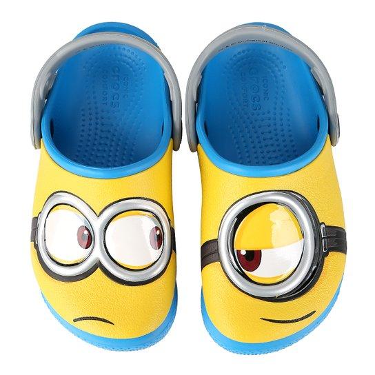 Sandália Crocs Infantil Funlab Minions - Azul Turquesa - Compre ... 4fbcc94267