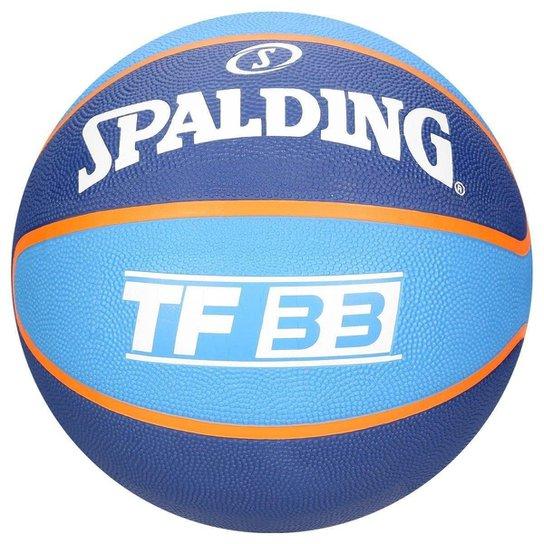 44f5d6245 Bola de Basquete Spalding NBA 3X TF 33 - Azul - Compre Agora