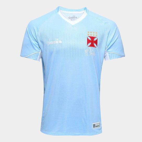 Camisa de Goleiro Vasco I 2018 s n° Torcedor Diadora Masculina - Azul 11720266f9045