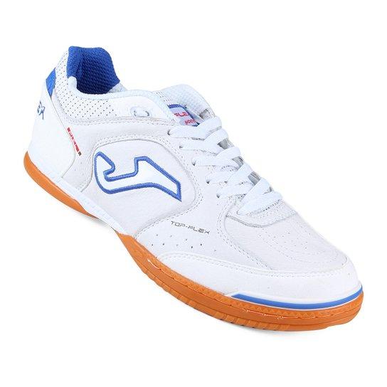 2b41b99460 ... Chuteira Futsal Joma Top Flex Masculino - Branco+Azul Claro new style  374c3 327a2 ...