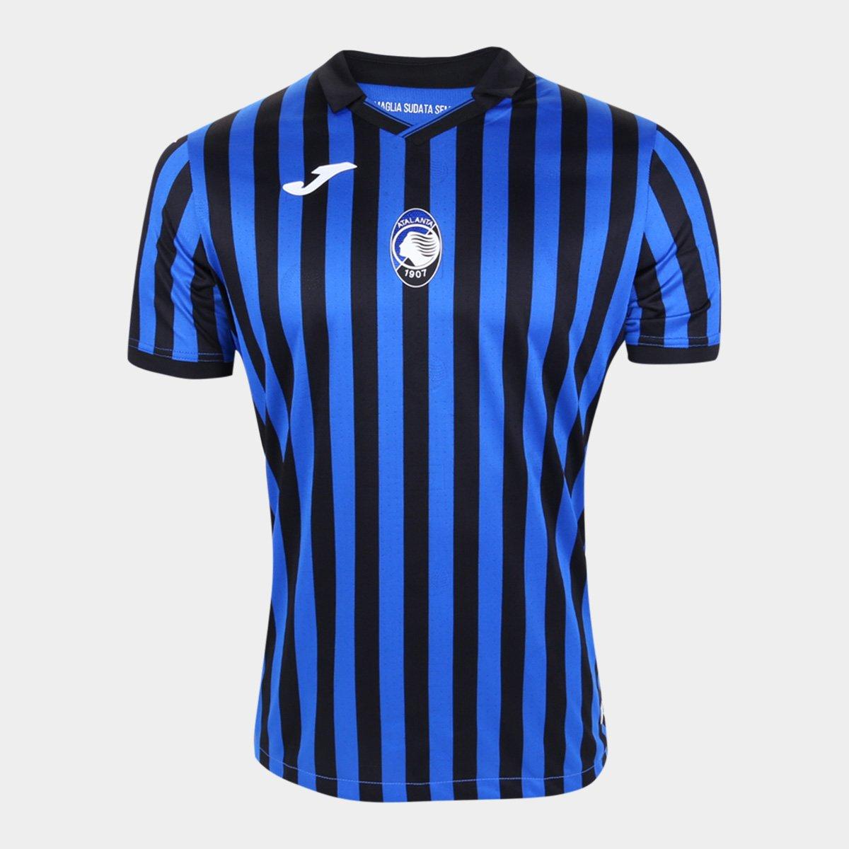 Camisa Atalanta Home 20/21 s/n° Torcedor Joma Masculina
