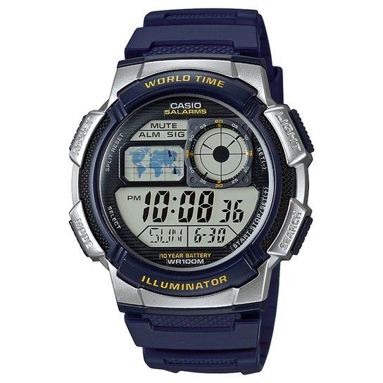 63d1402347b Relógio Digital Casio AE-1000W-2AVDF Masculino - Azul - Compre Agora ...