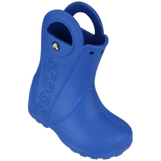 7cd2a7e06b98 Bota Crocs Handle It Rain Infantil - Azul - Compre Agora