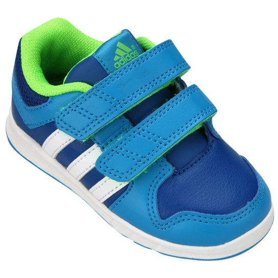 1c7ef633a80 Tênis Adidas LK Trainer 6 CF Infantil - Azul+Verde Limão