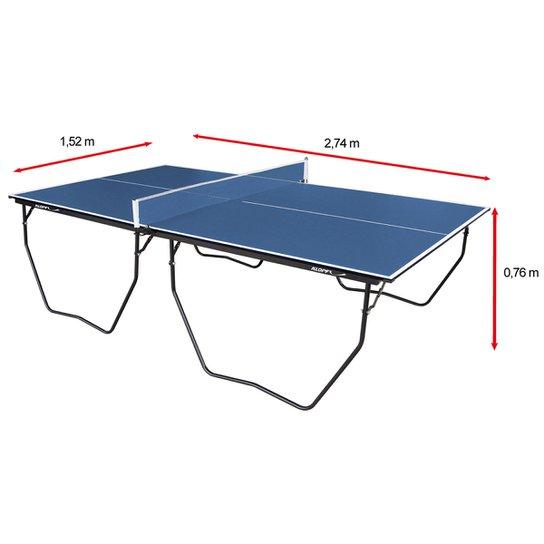 a0222a69d Mesa de Ping Pong   Tênis de Mesa Klopf - 15 mm - Azul