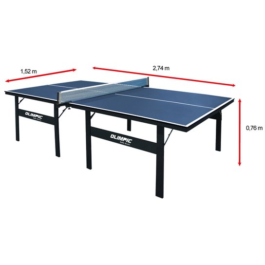 bd510e71d2244 Mesa de Ping Pong   Tênis de Mesa Klopf Olimpic - 15 mm - Azul ...