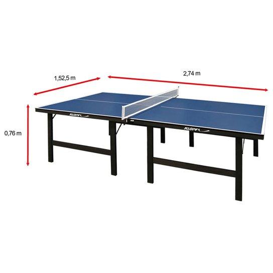 823371d06 Mesa de Ping Pong   Tênis de Mesa Klopf - 15 mm - Azul