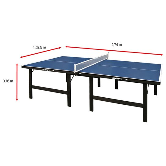dce3c7108 Mesa de Ping Pong   Tênis de Mesa Klopf - 15 mm - Azul