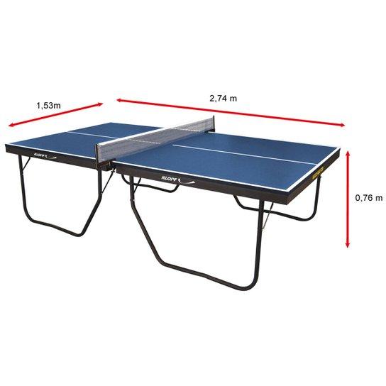 1ab171f34 Mesa de Ping Pong   Tênis de Mesa Klopf - 25 mm - Preto e Azul ...